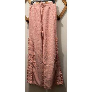 Lazy Oaf Pink Ruffled Heart Pants Size S NWT